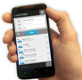 LocaToWeb shares the mobile GPS position in real time and stores the track data on a map. The app is available for Android, iPhone and Windows Phone.